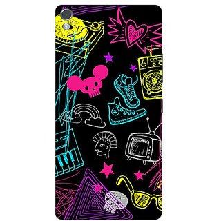 Garmor Designer Plastic Back Cover For Gionee Elife S7