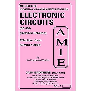 AMIE - Electronics and Communication Engineering Section(B) Solved And Unsolved Papers  Electronic Circuits (EC- 406 )
