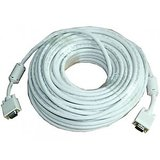 VGA Cable White 15 Pin To 15 Pin Male Cable 10 M For LCD/LED/PC/TFT Monitors