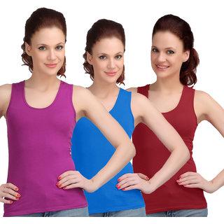Sona WomenS Light purple/Sky Blue/Maroon Sando Camisole