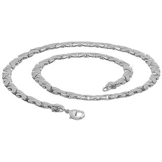 Silver Toned Masculine Chain Giving Bold Look