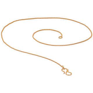 Delicate Womens Gold Tone Chain