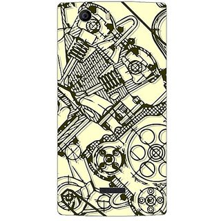 Garmordesigner Plastic Back Cover For Micromax Canvas Nitro 2 E311