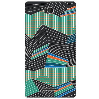 Garmor Designer Plastic Back Cover For Sony Xperia C