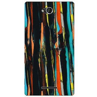 Garmor Designer Plastic Back Cover For Sony Xperia C