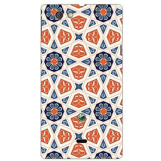 Garmor Designer Plastic Back Cover For Sony Xperia Miro