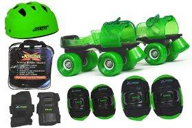 Jaspo Green Rider Pro Senior Skates Combo (skates+helmet+knee+elbow+wrist+bag)