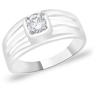 Taraash 925 Silver CZ Finger Ring For Mens FR1236R9