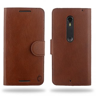 Cool Mango Compact Premium Faux Leather Flip Cover for Moto X Style