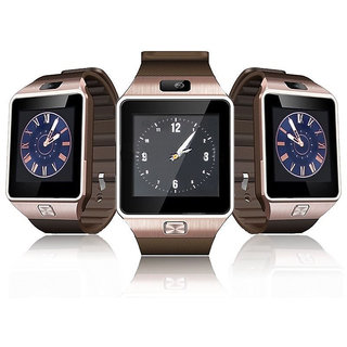 Snaptic DZ09 Bluetooth Sim Enabled Mobile Phone Smart Watch  Rose Gold
