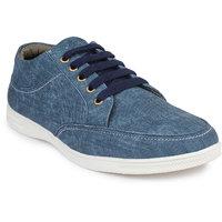 Pede Milan Men's Blue Lace-Up Casual Shoes