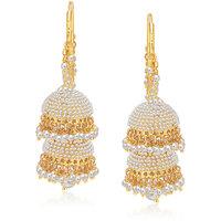 Sukkhi Blossomy Gold Plated Pearl Jhumki For Women