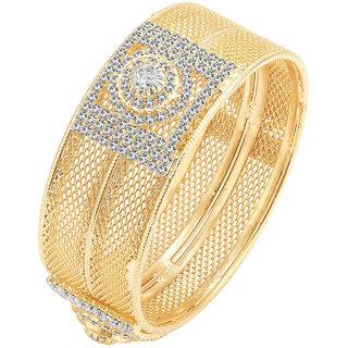 Sukkhi Graceful Gold Plated AD Kada For Women