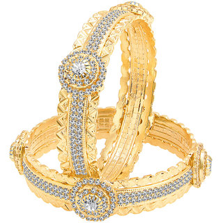Sukkhi Artistically Gold Plated AD Bangle For Women