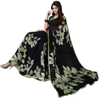 Shreemeena Multicolor Georgette Printed Saree with Blouse Piece for Women 52233