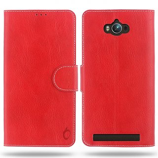 Cool Mango Compact Premium Faux Leather Flip Cover for Asus Zenfone Max