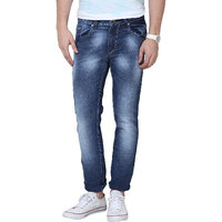 Super-X Blue Skinny Fit Jeans For Men-abc39c