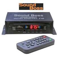 Sound Boss Mp3 With Dancing Led Car Media Player(Single Din)