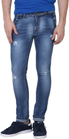 Super-X Blue Skinny Fit Jeans For Men-abc37c
