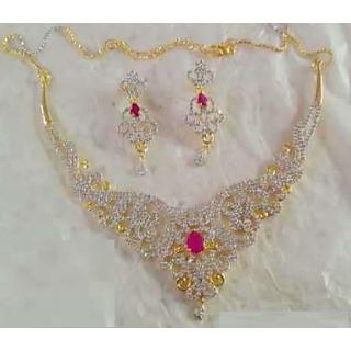 Buy Farzeen Jewellery American Diamond Necklace Set Online 2500 From Shopclues