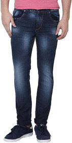 Super-X Blue Skinny Fit Jeans For Men-abc26c