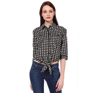 Oxolloxo Women Check Cotton Shirt (S16064WSH004)