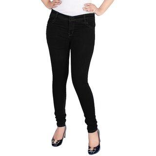 Samrat Womens Black Denim Jeans Black