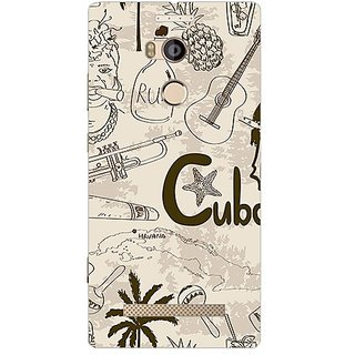 Garmor Designer Plastic Back Cover For Gionee Elife E8