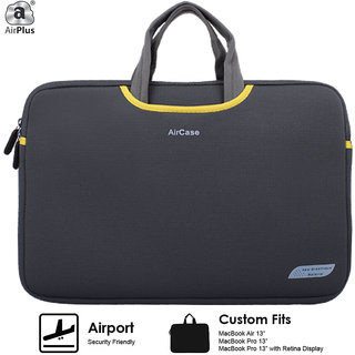 AirPlus Designer Neoprene Protective Handle Sleeve for 13 inch Laptop-Space Grey