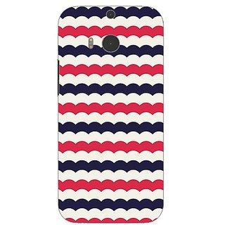 Garmor Designer Plastic Back Cover For Htc One (M8)