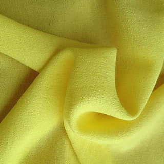 Dress Material Rayon Crepe Fabric Yellow Color