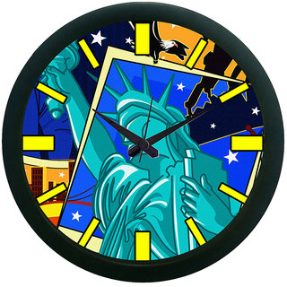 Ae World Statue Of Liberty Wall Clock (With Glass) 12X12 Inches