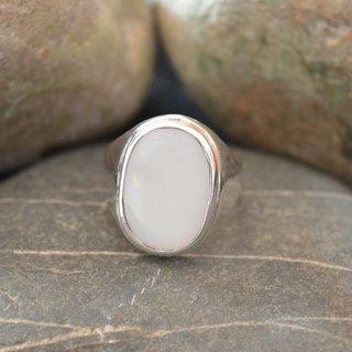 5 Ct Beautiful Handmade Handmade 92.5 Sterling Silver Opal Gemstone Ring - HR133