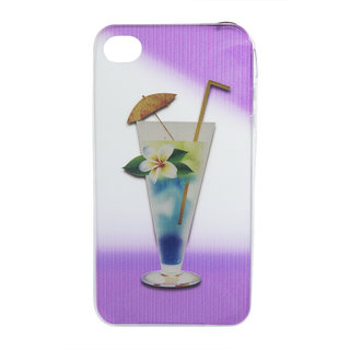 Silicon Soft Printed Back Cover Case For Apple Iphone 4/4s- Multicolor