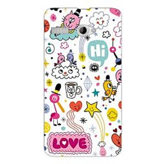 Garmor Designer Plastic Back Cover For Intex Aqua 3G Pro