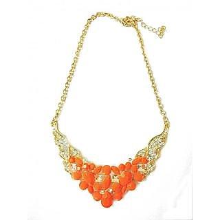 ec518e51e7eb7 Bright Orange Nadia Necklace