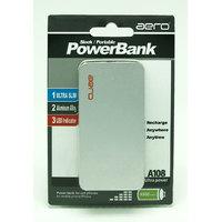 Aero 4000 MAh Sleek/Portable Power Bank For Mobile Phone/iPhone - Silver