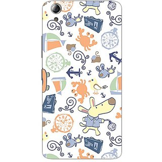 Garmor Designer Plastic Back Cover For Lenovo A6000