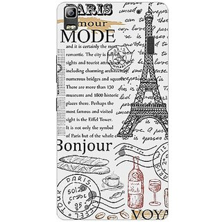 Garmor Designer Plastic Back Cover For Lenovo K3 Note