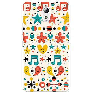 Garmor Designer Plastic Back Cover For Lenovo Vibe P1