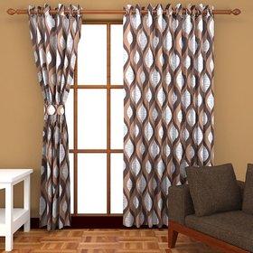 Bsb Trendz Polyester Fancy Door Curtain Set Of 4