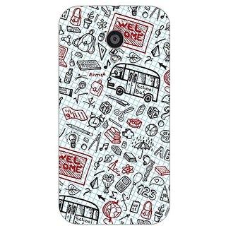 Garmor Designer Plastic Back Cover For Motorola Moto G2