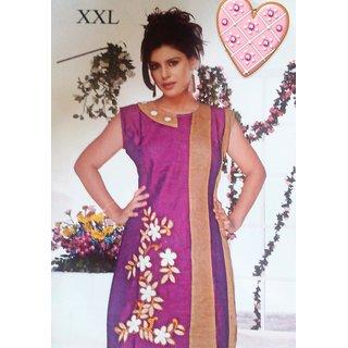 beautiful purple cotton kurti