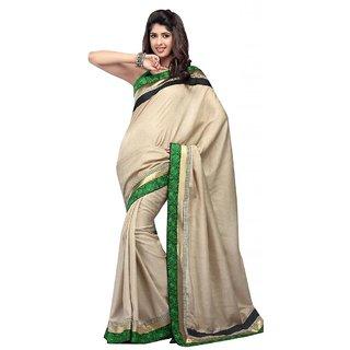 Triveni Multicolor Cotton Lace Saree With Blouse
