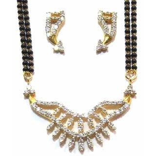 shingar Ksvk Jewels Cubic Zirconia Mangalsutra set For women (9872-p2)