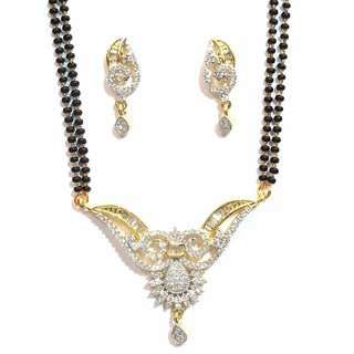 Jewelshingar Cubic Zirconia Mangalsutra Set For Women (10152-p2)