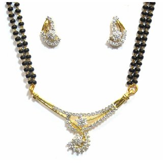 Jewelshingar Cubic Zirconia Mangalsutra Set For Women (10156-p2)