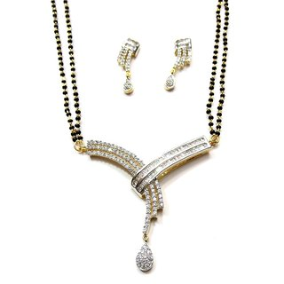 Jewelshingar Cubic Zirconia Mangalsutra Set For Women (1-msad-p2)