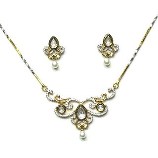 Jewelshingar Cubic Zirconia Mangalsutra Set For Women (2570-p2)