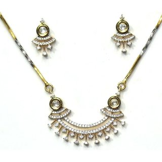 Jewelshingar Cubic Zirconia Mangalsutra Set For Women (2572-p2)